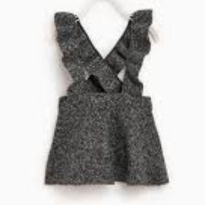 Zara girl skirt with ruffled straps knit